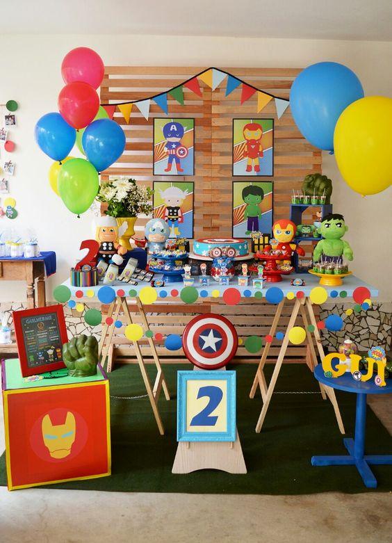 decoracin para fiesta infantil de super heroes