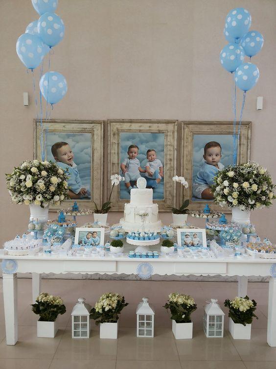 decoracion de bautizo para niño en casa