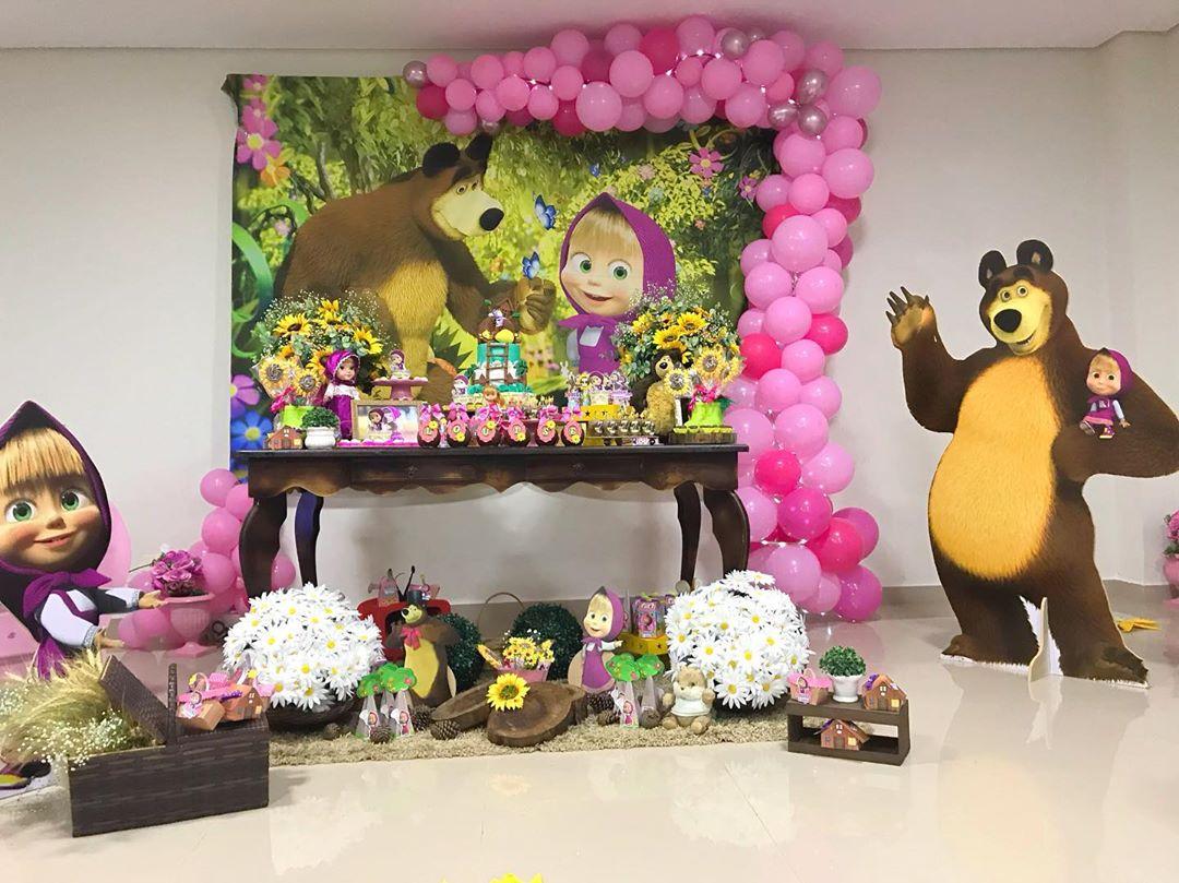 decoracion fiesta de cumpleaños de masha y el oso