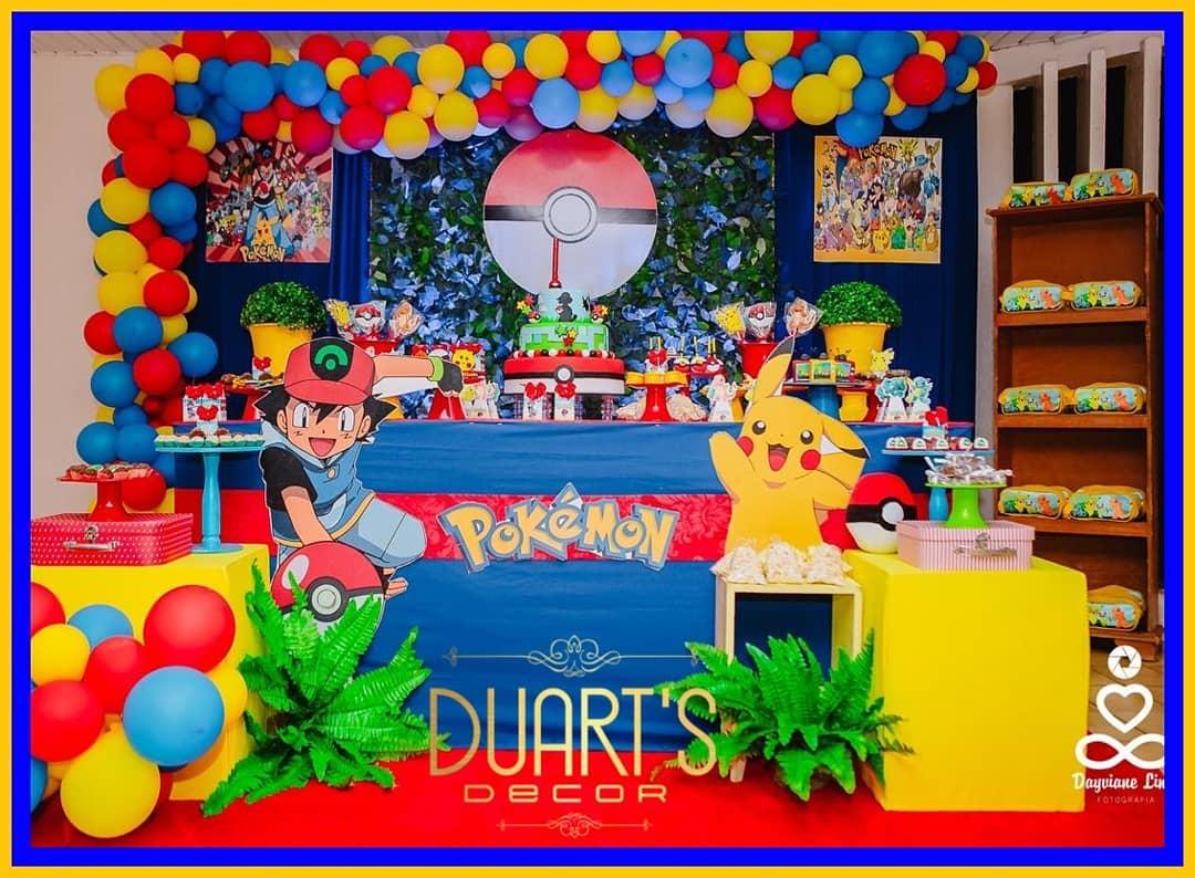 decoracion fiesta temática de pokemon