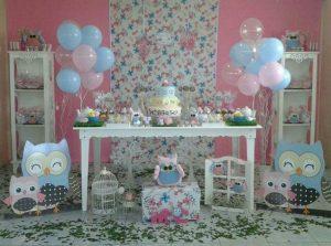 decoracion mesa para fiesta tematica de buhos