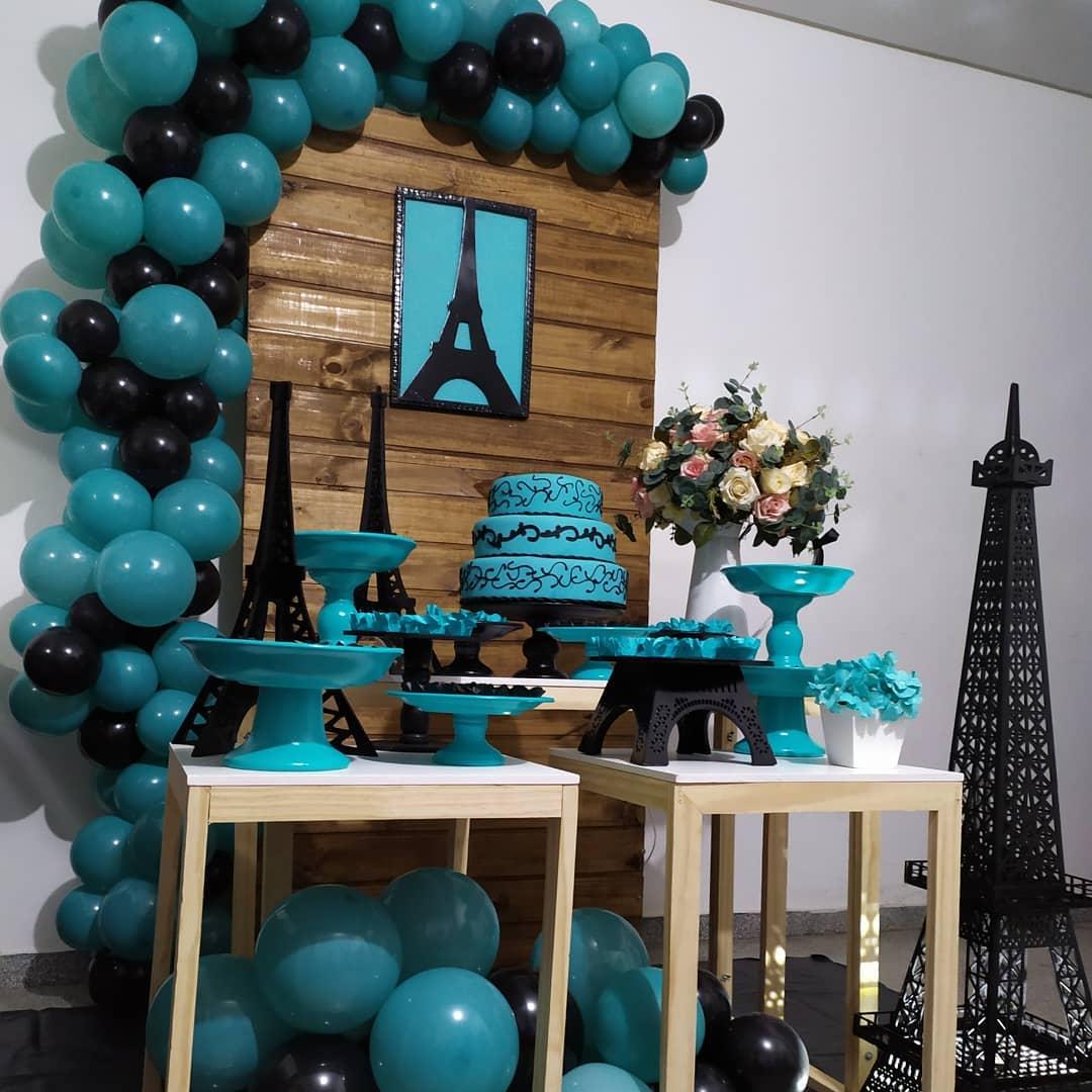 decoracion mesa principal fiesta temática de París