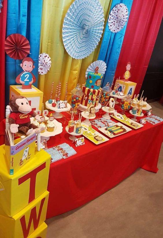 Mesa Principal De Baby Shower Nino.Decoracion Mesa Principal Para Fiesta Tematica De Jorge El