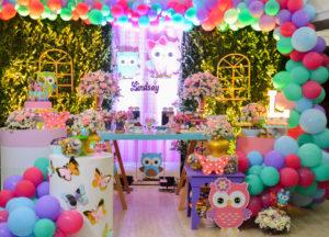 decoracion para fiesta temática de búhos