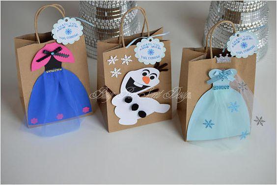dulceros para fiesta de frozen