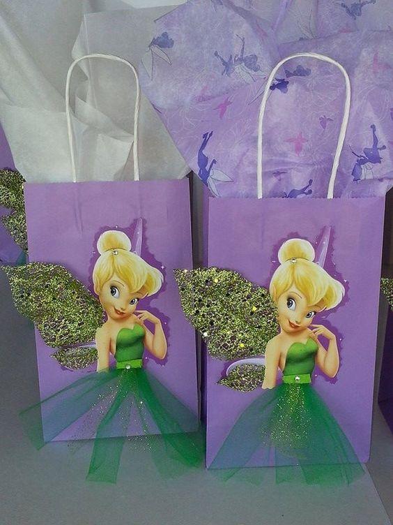 dulceros para fiesta infantil con tematica de campanita