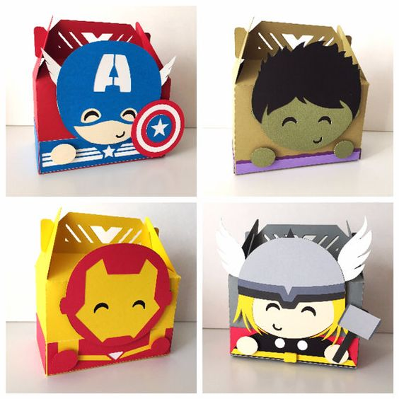 dulceros para fiesta infantil de super heroes
