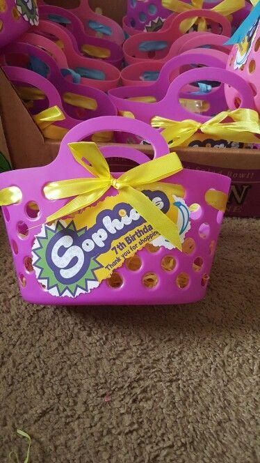 dulceros para fiesta tematica de shopkins