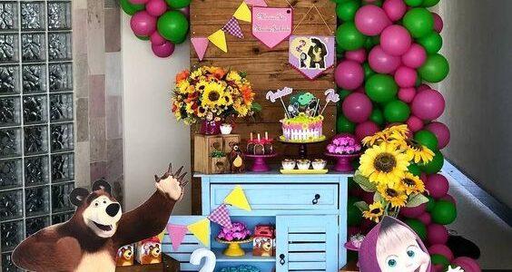 fiesta de cumpleaños de Masha y el Oso