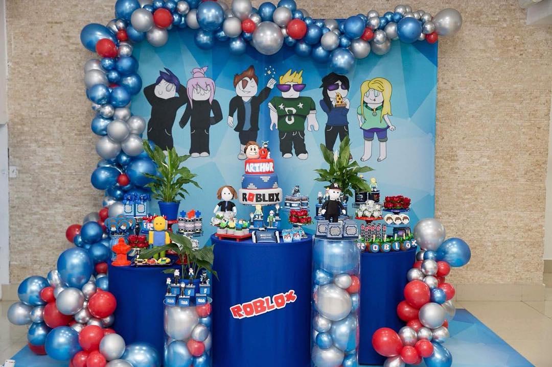 fiesta tematica de roblox para niños