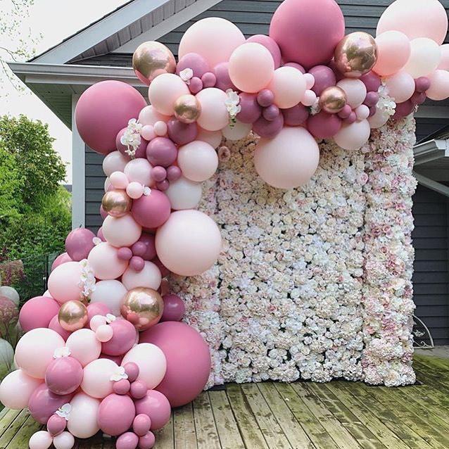 ideas de decoracion marcos con globos para fiesta