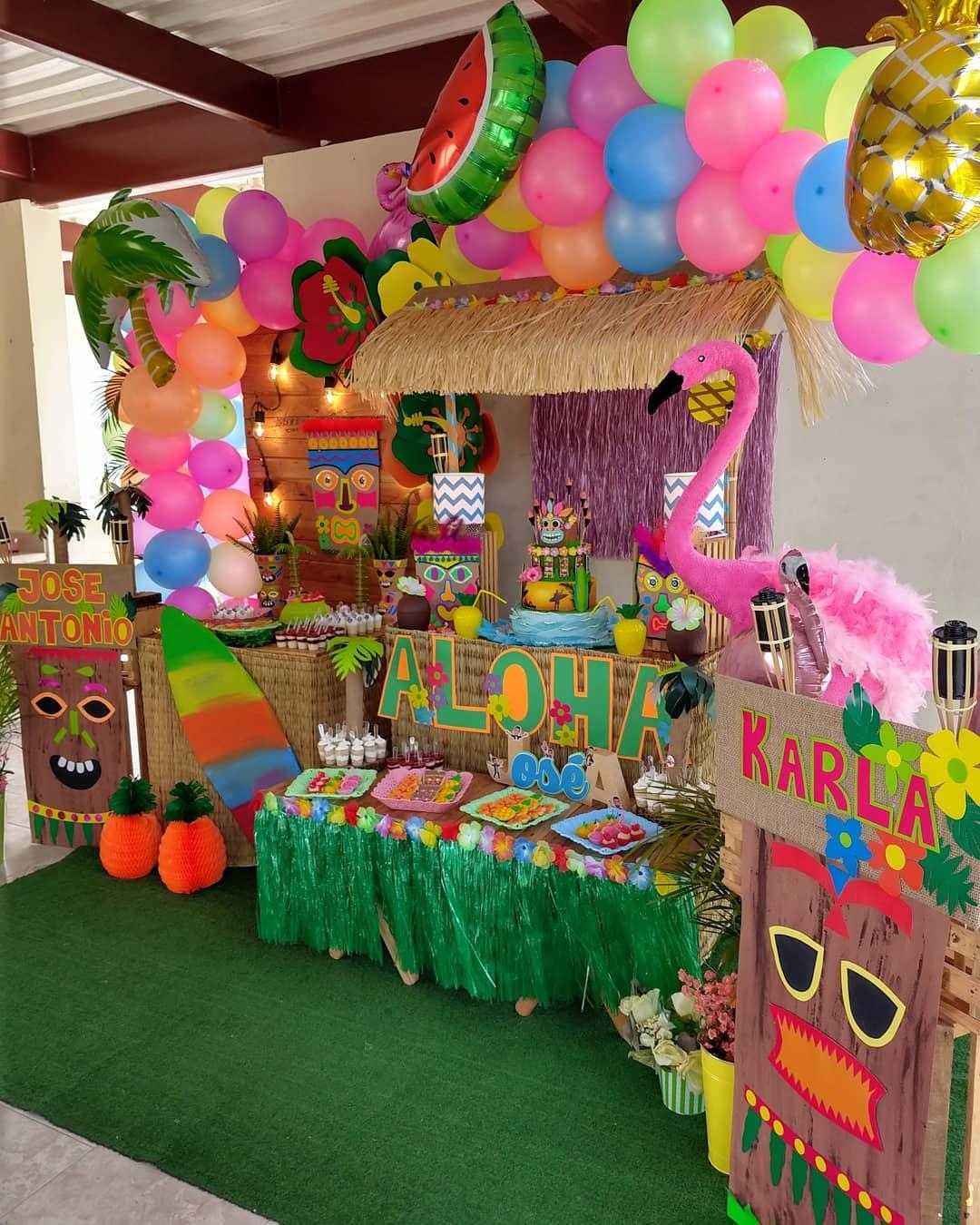 ideas de decoracion para fiesta hawaina
