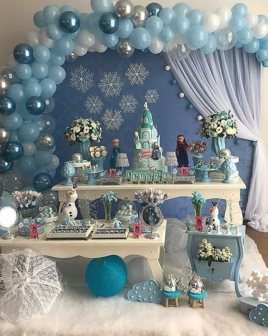 ideas de decoracion para fiesta de frozen