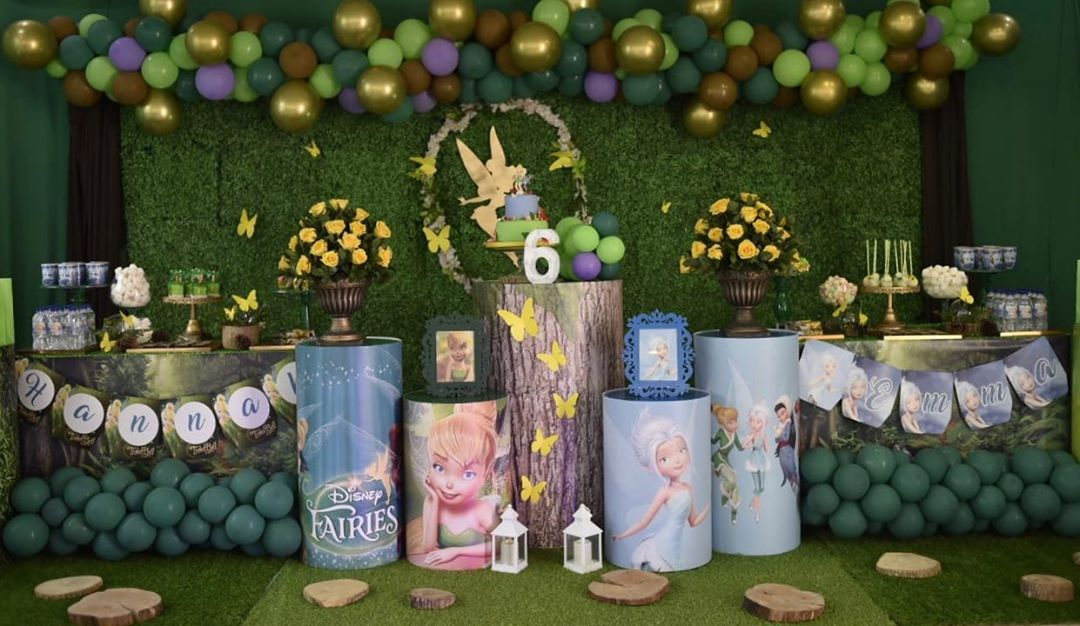 ideas para decorar fiesta infantil con temática de campanita