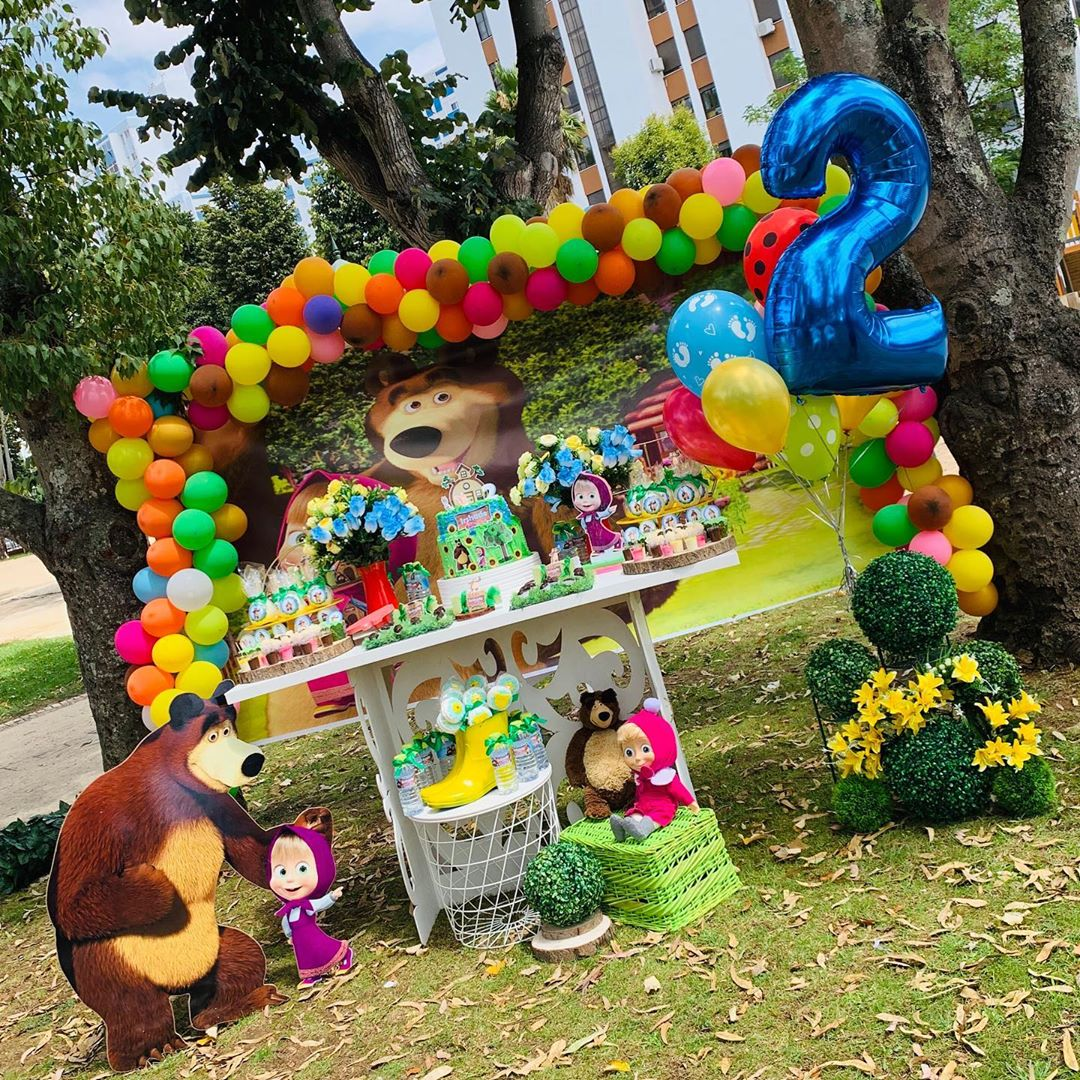 ideas para fiesta de cumpleaños de masha y el oso