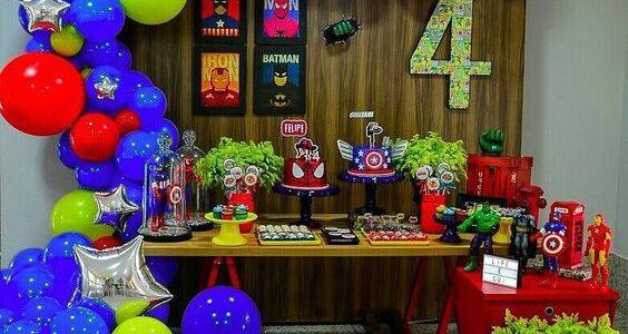 ideas para fiesta infantil de super heroes