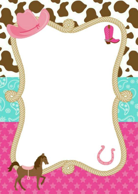 invitaciones de fiesta de vaquera para niñas