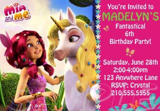 invitaciones de fiesta tematica de mia and me