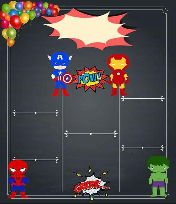 invitaciones para fiesta infantil de super heroes