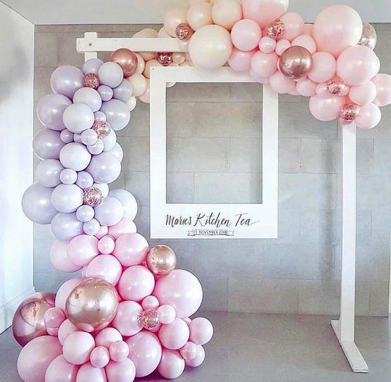 marcos de globos para fiestas
