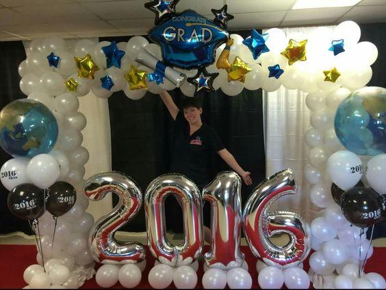 marcos de globos para fiestas de graduacion