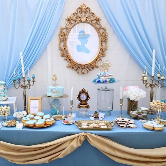 mesa de dulces para fiesta de cenicienta