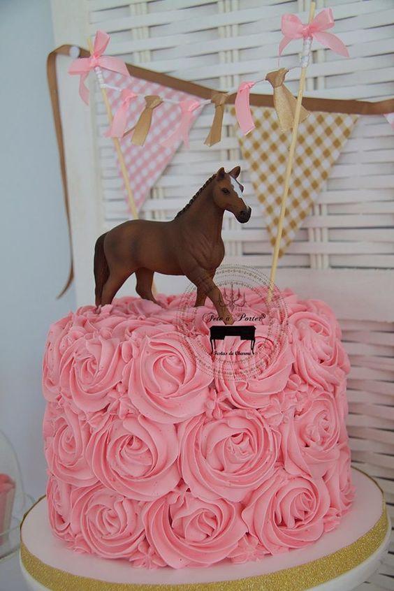 pastel de fiesta de vaquera para niñas