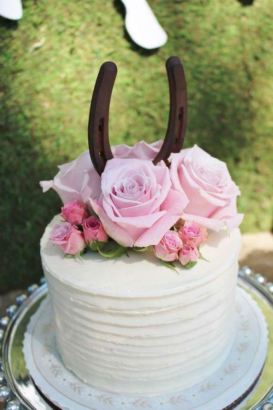 pastel para XV años tematica de Vaquera