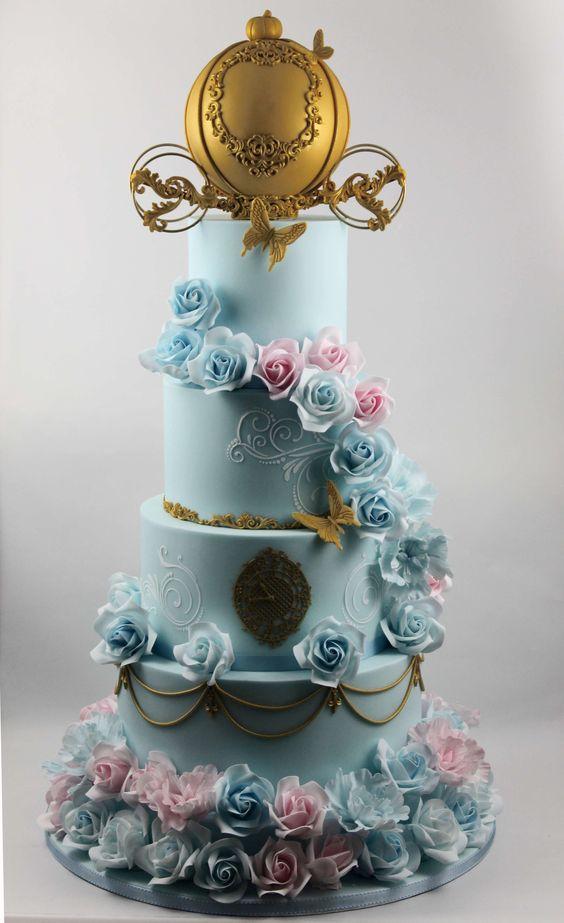 pastel para cumpleaños de cenicienta