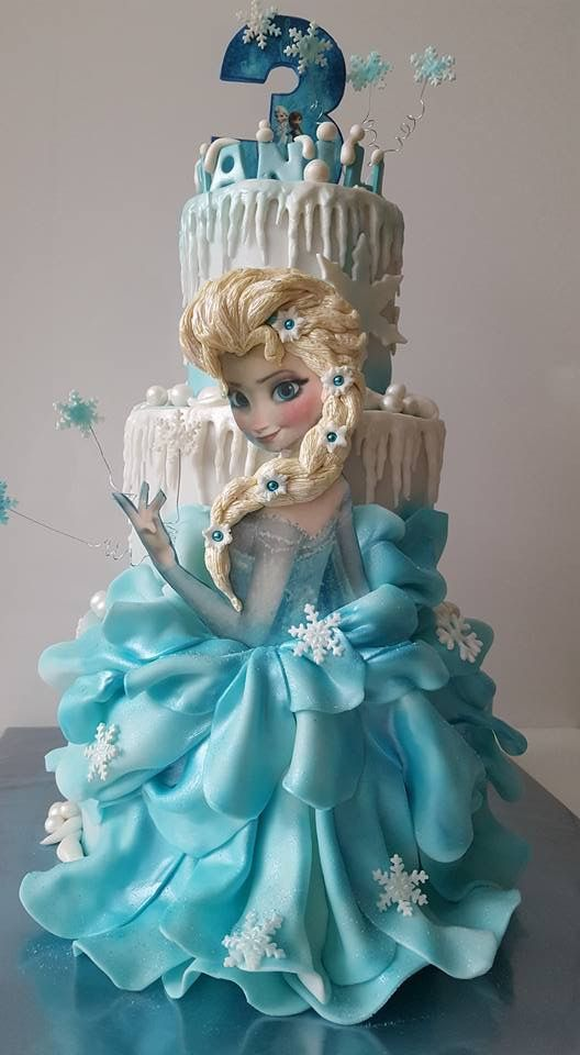pastel para cumpleaños de frozen
