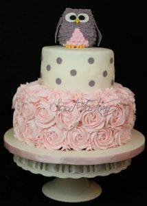 pastel para fiesta de buhos
