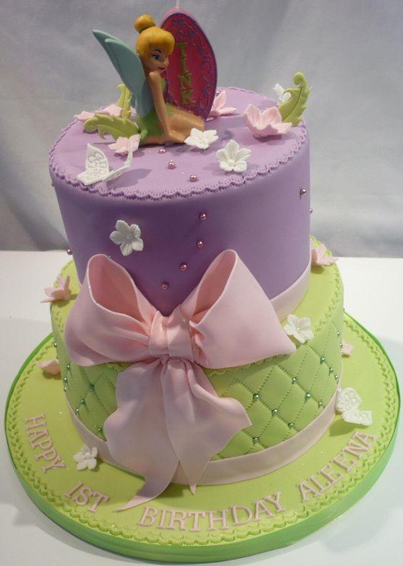 pastel para fiesta infantil con tematica de campanita