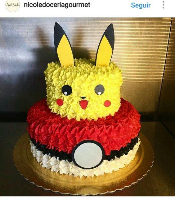 pastel para fiesta tematica de pokemon