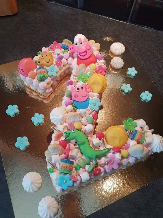 pasteles modernos para fiestas infantiles de numeros