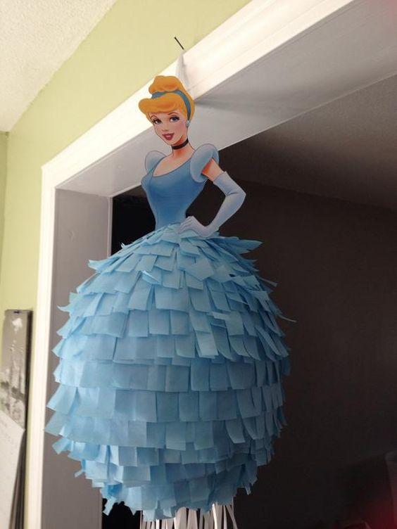 piñata para fiesta de cenicienta