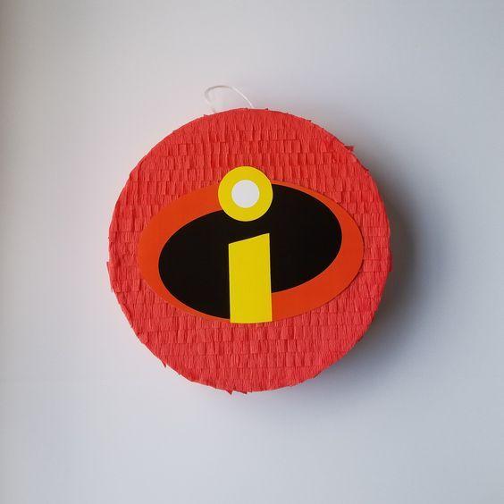 piñata para fiesta de cumpleaños de los Increibles