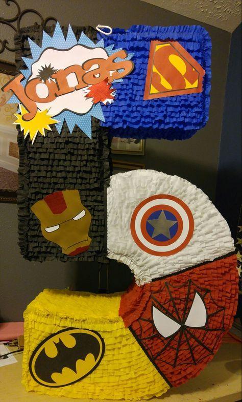 piñata para fiesta infantil de Super heroes
