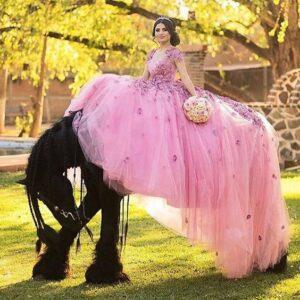 vestidos de XV años de vaquera