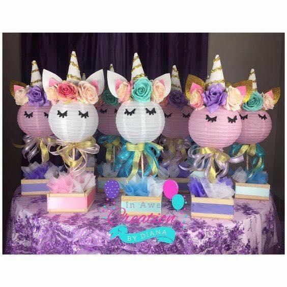 adornos para fiesta tematica unicornio niña