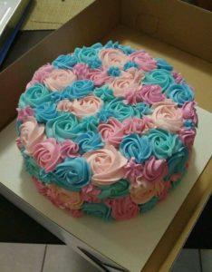 pastel para anunciar el genero del bebe