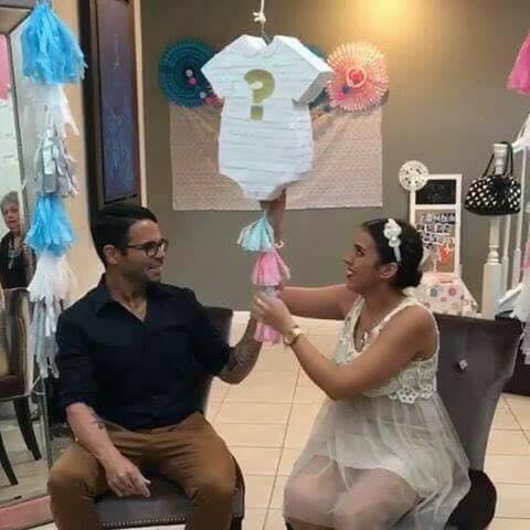 piñata para revelar el sexo del bebe