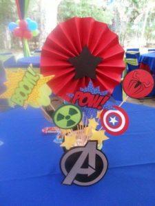 Centros de Mesa para Fiesta de Avengers