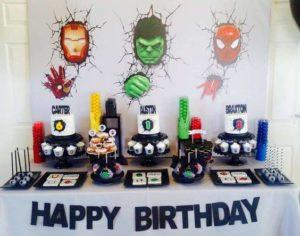 Como decorar Mesa del pastel en Cumpleaños de Avengers