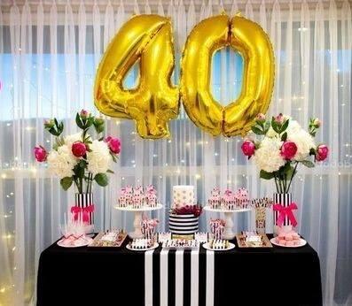 Ideas para decorar el candy bar en cumpleaños de mujeres de 40