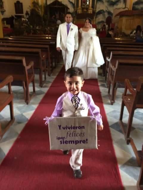 Letreros para boda niños