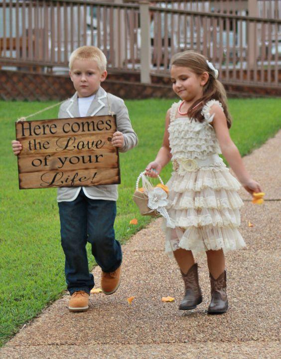 Letreros para bodas de madera