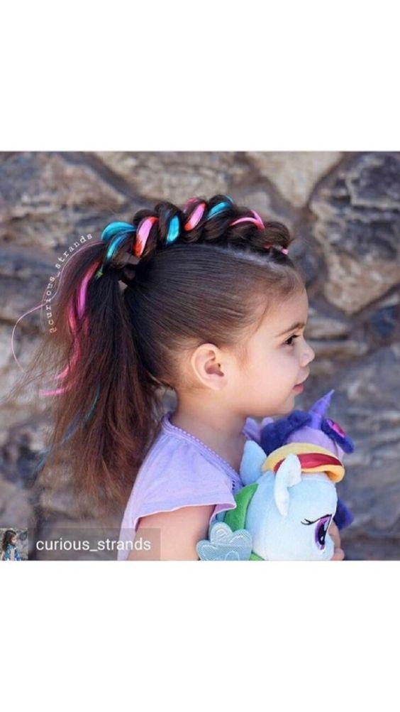 Peinado loco para niña facil