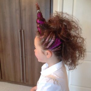 Peinados locos de unicornio