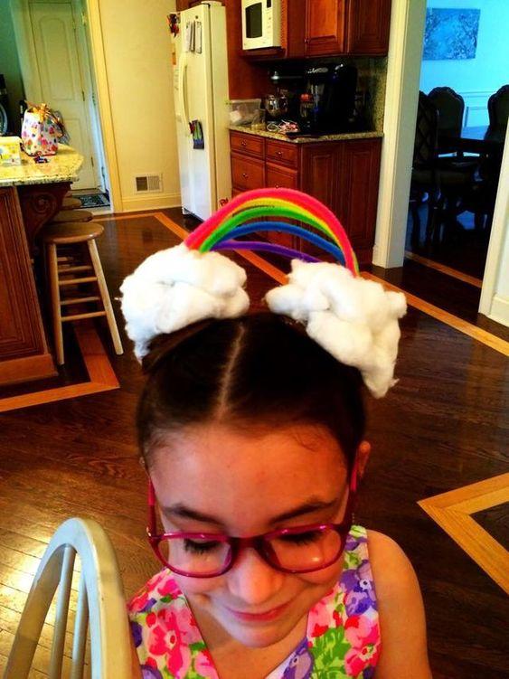 Peinados locos para niñas con limpiapipas