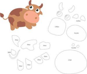 figuras y moldes para imprimir de la vaca lola